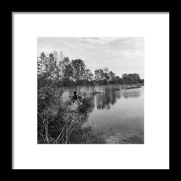 Water Framed Print featuring the photograph Moving the Water by Frank J Casella