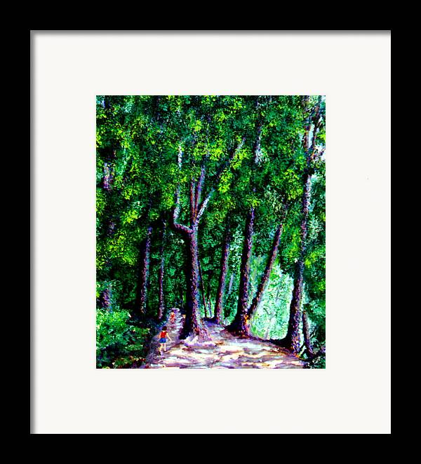 Trail Framed Print featuring the painting The Trail by Stan Hamilton