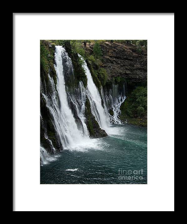 Tranquility Framed Print featuring the photograph The Tranquility Of Waterfalls by Stephanie H Johnson