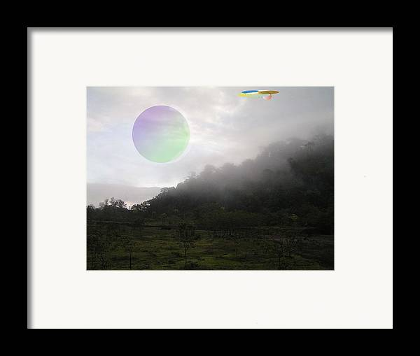 Landscape Sci-fi Framed Print featuring the photograph The Traveler by Giles b Liddell