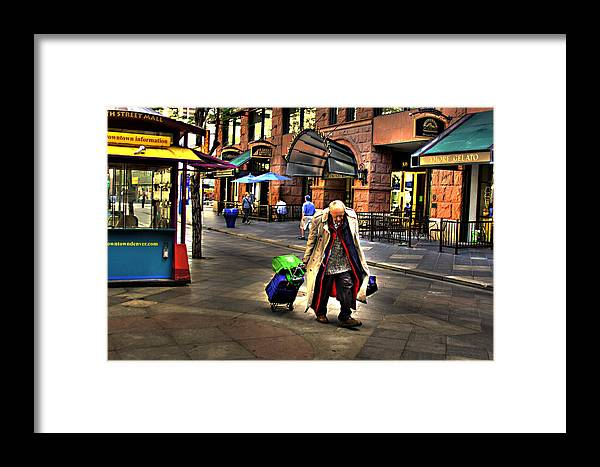 Denver Framed Print featuring the photograph The Traveler by Laurie Prentice