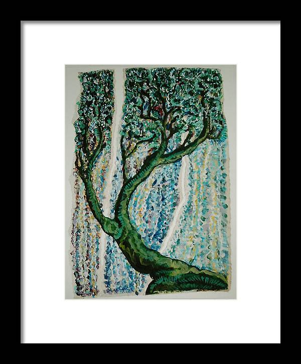 Tree Framed Print featuring the painting The Tree Energy by Helene Champaloux-Saraswati