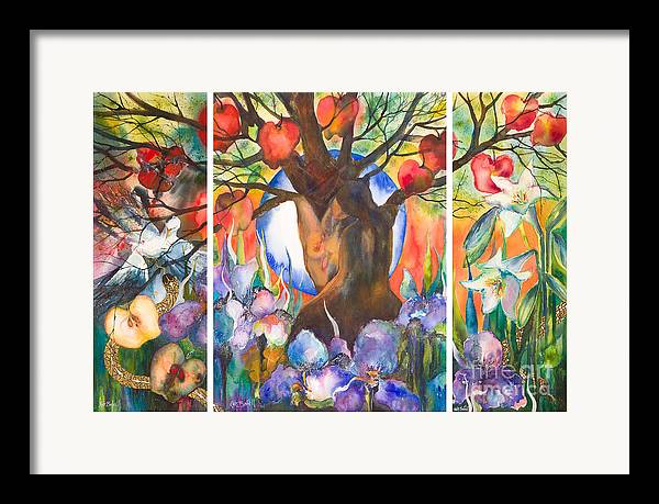 Tree Of Life Framed Print featuring the painting The Tree Of Life by Kate Bedell