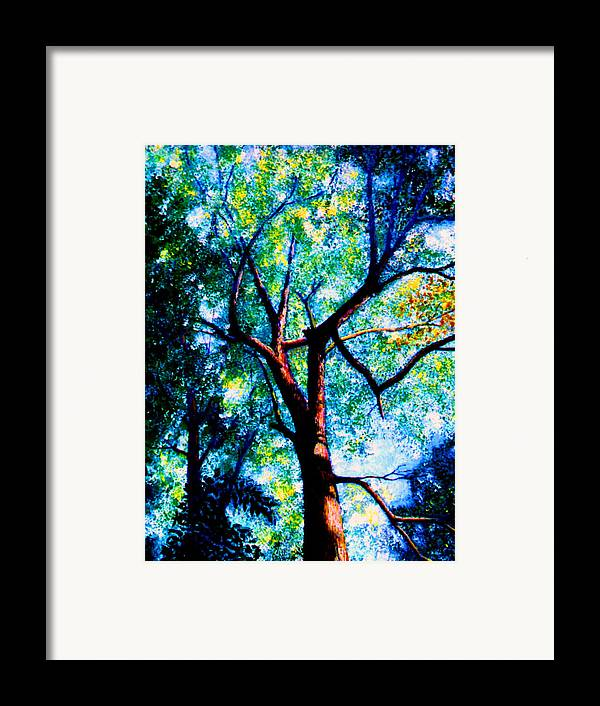 Landscape Framed Print featuring the painting The Tree by Stan Hamilton