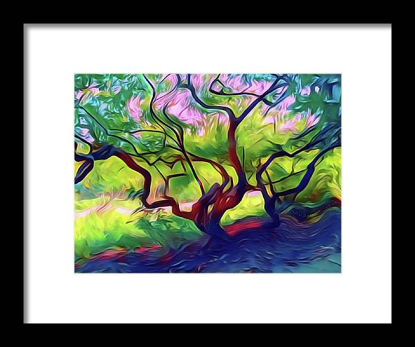 Nature Framed Print featuring the mixed media The Tree by Susanne Baumann