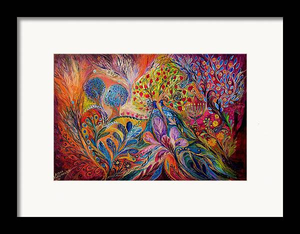 Original Framed Print featuring the painting The Trees Of Eden by Elena Kotliarker