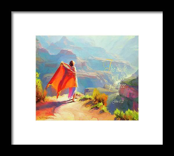 Eyrie Framed Print featuring the digital art The Truth Will Set You Free by Steve Henderson
