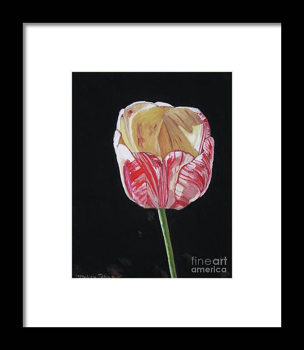 Botanical Framed Print featuring the painting The Tulip by Melissa Tobia