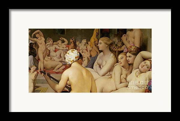 Nude Framed Print featuring the painting The Turkish Bath by Ingres