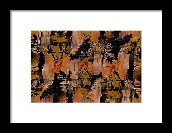 Turmoil Framed Print featuring the digital art The Turmoil Within by Tim Allen