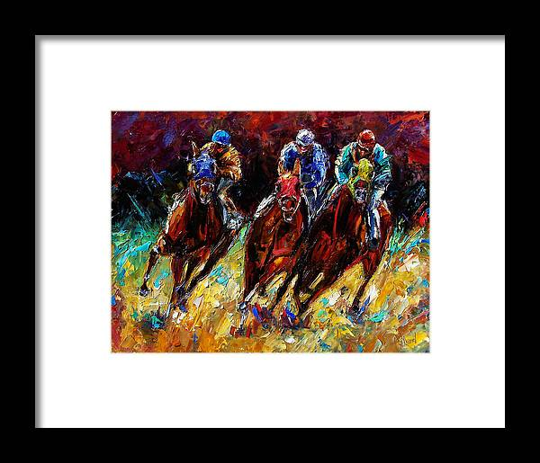 Horses Paintings Framed Print featuring the painting The Turn by Debra Hurd