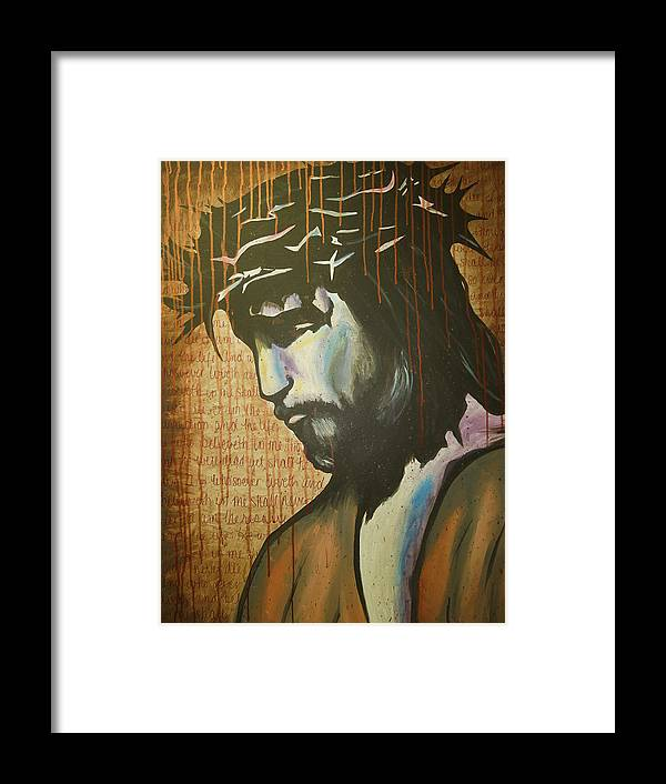 Jesus Framed Print featuring the painting The Ultimate Sacrifice by Hannah Greer