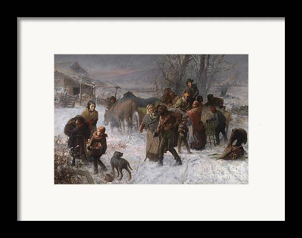 Abolition Framed Print featuring the painting The Underground Railroad by Charles T Webber