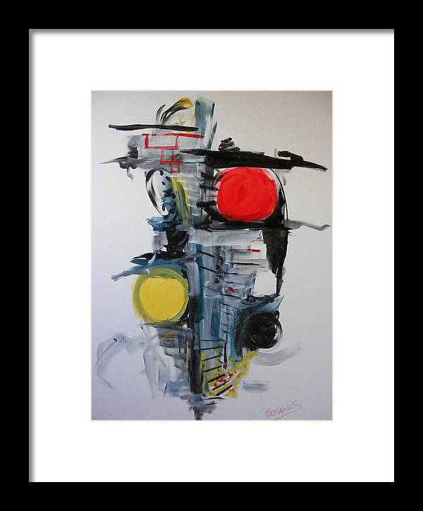 Abstract Framed Print featuring the painting The Unfinished Dream by Peter Bethanis