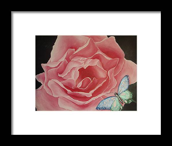 Floral Framed Print featuring the painting The Unfolding by Glory Fraulein Wolfe
