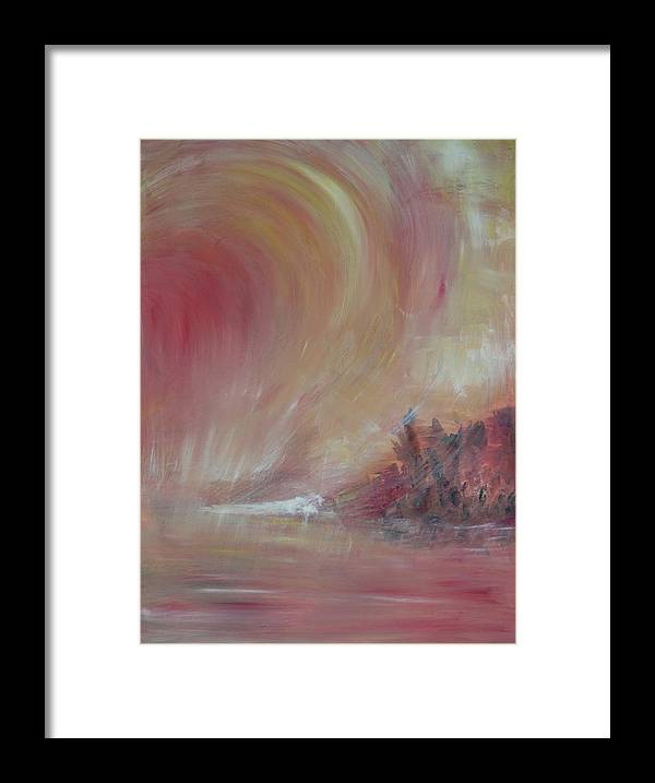 Abstract Framed Print featuring the painting The Universe by Taly Bar