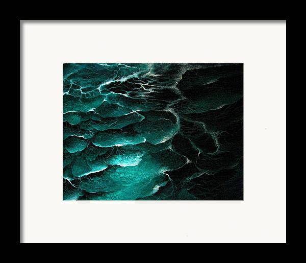 Seascape Framed Print featuring the painting The Unknown by Glory Fraulein Wolfe