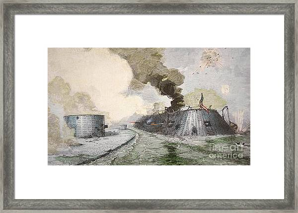 New matted art prints of 1862 lithograph. Civil War Battle of New Orleans