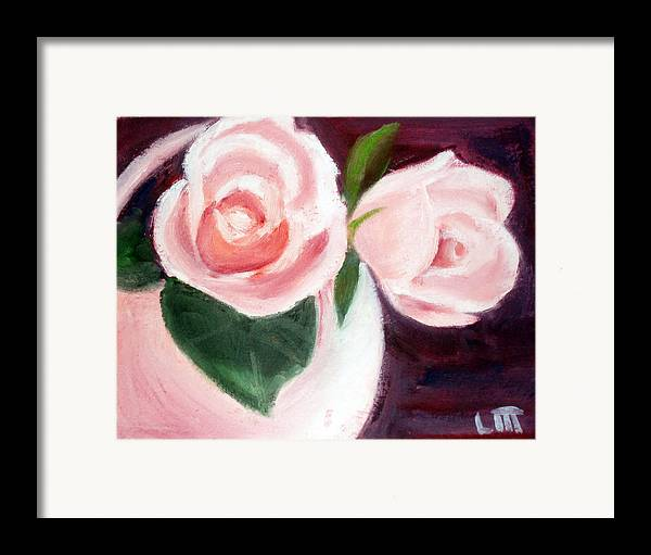 Roses Framed Print featuring the painting The Usual Suspects by Lia Marsman