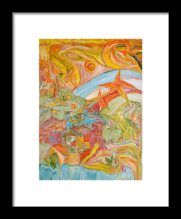 Landscape Framed Print featuring the painting The Valley Of Wonders by Cynthia Anheier