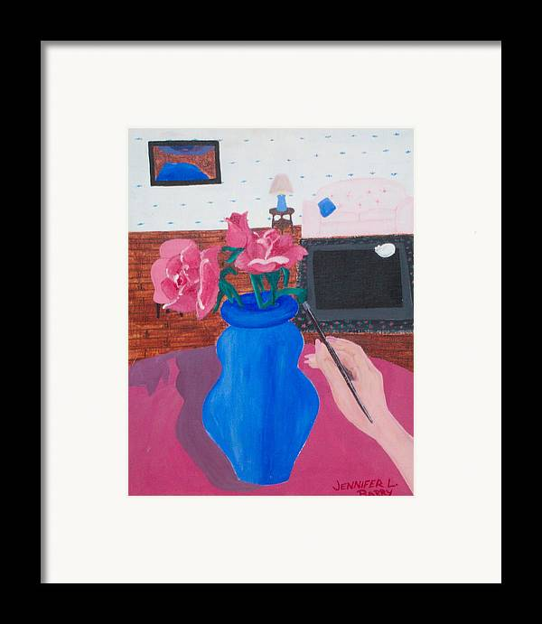 Vase Framed Print featuring the painting The Vase by Jennifer Hernandez