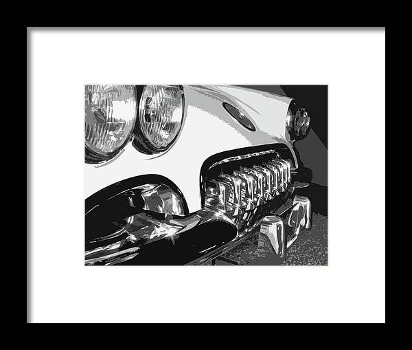 Corvette Framed Print featuring the photograph The Vette That Growled by Dick Goodman