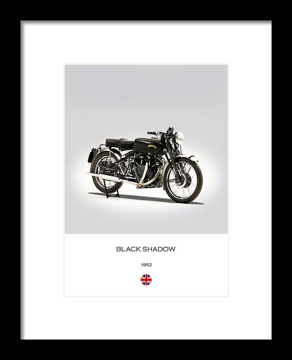Vincent Black Shadow Framed Print featuring the photograph The Vincent Black Shadow by Mark Rogan