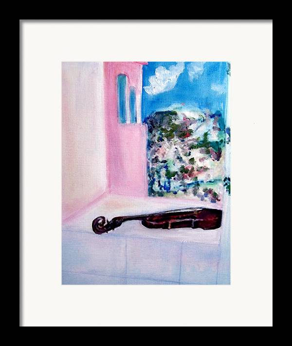 Violin Framed Print featuring the painting The Violin by Michela Akers