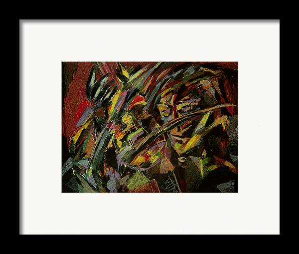 Fantasy Framed Print featuring the painting The Violinist by Tadeush Zhakhovskyy