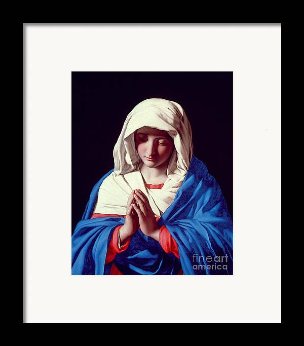 Mary Framed Print featuring the painting The Virgin In Prayer by Il Sassoferrato