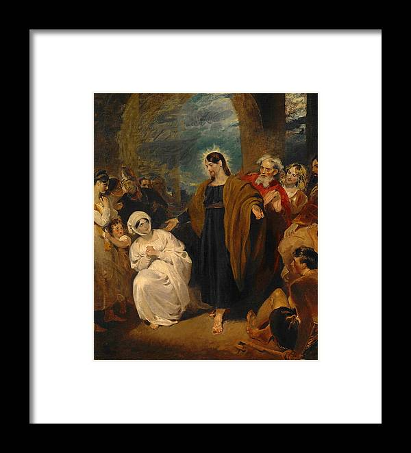 George Henry Harlow Framed Print featuring the painting The Virtue Of Faith by George Henry Harlow
