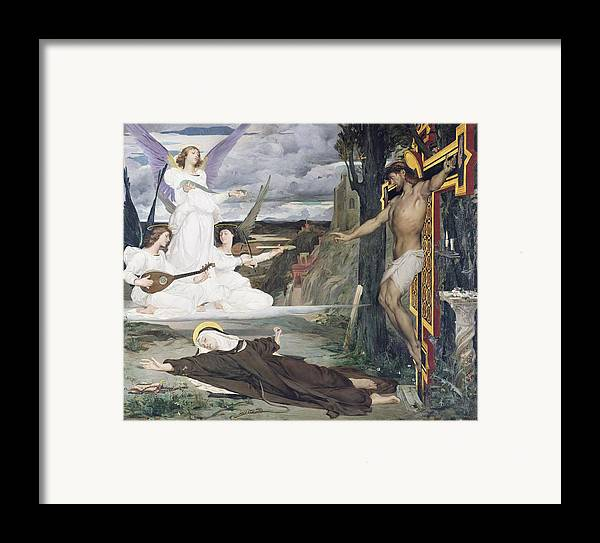 The Framed Print featuring the painting The Vision by Luc-Oliver Merson