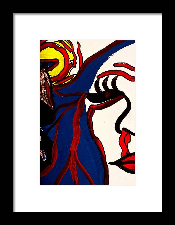 Abstract Framed Print featuring the print The Vision by William Watson
