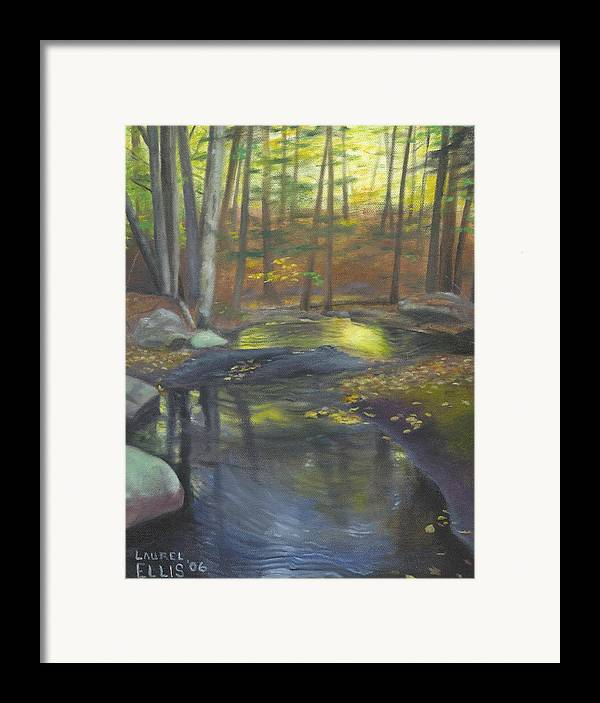 Landscape Framed Print featuring the painting The Wading Pool by Laurel Ellis