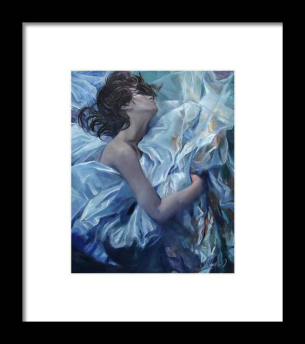 Ignatenko Framed Print featuring the painting The waiting for the spring by Sergey Ignatenko