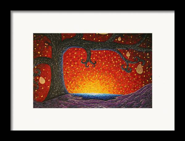 Tree Art Framed Print featuring the painting The Waker 2 by Amy Parker