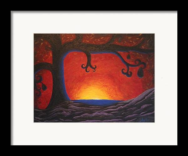 Tree Art Framed Print featuring the painting The Waker by Amy Parker