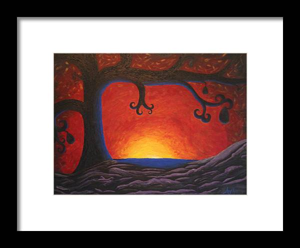 Tree Art Framed Print featuring the painting The Waker by Amy Parker Evans