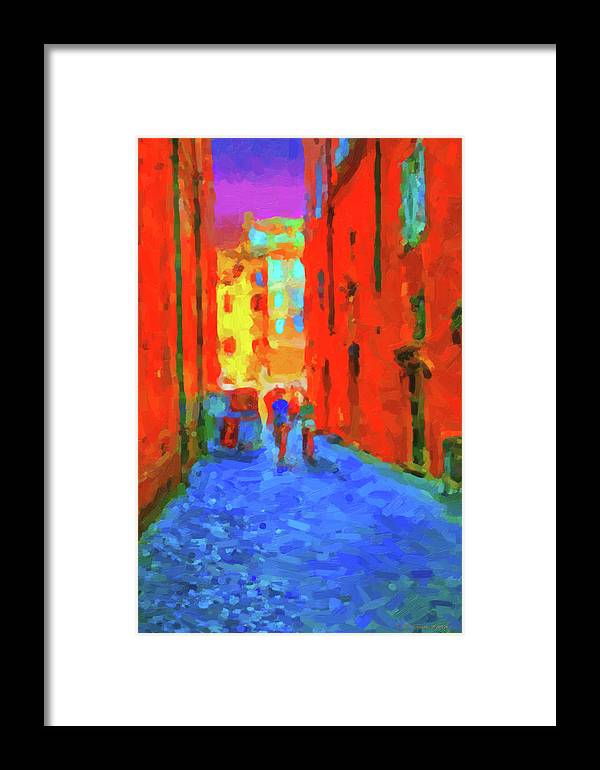 'the Walkabouts' Collection By Serge Averbukh Framed Print featuring the digital art The Walkabouts - When In Rome by Serge Averbukh