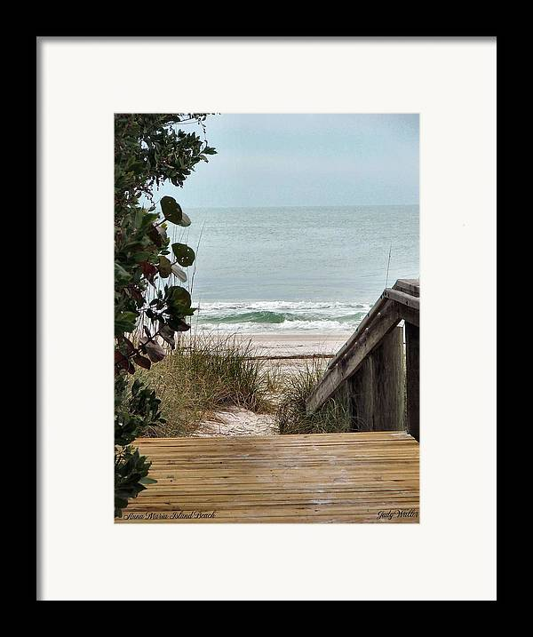Beach Framed Print featuring the photograph The Walkway To The Beach by Judy Waller