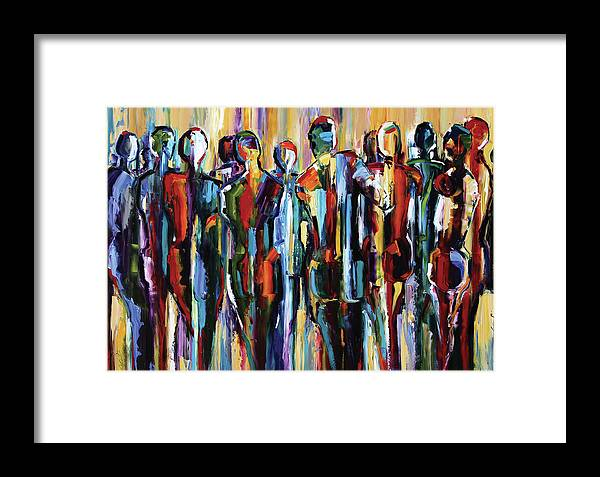 Pure Justus Collection Framed Print featuring the painting The Wanderers, Good People Series, Pure Justus by Laurie Pace