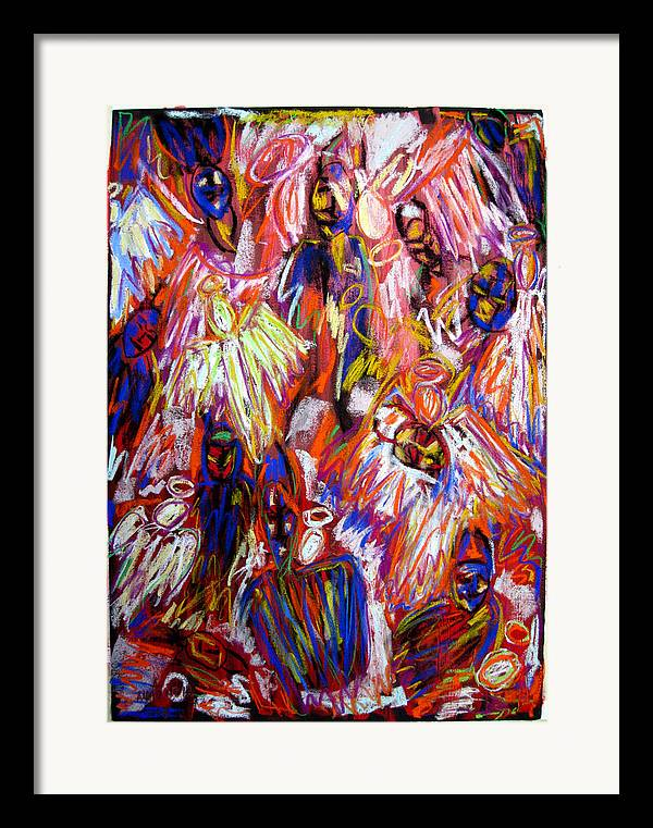 Figure Framed Print featuring the painting The War Of Dreams by Albert Almondia