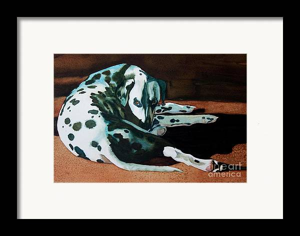 Animal Framed Print featuring the painting The Watcher by Gail Zavala