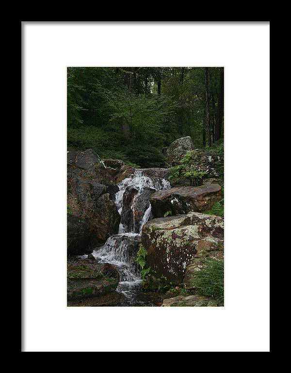 Water Framed Print featuring the photograph The Water Splashes On by Lynn Michelle