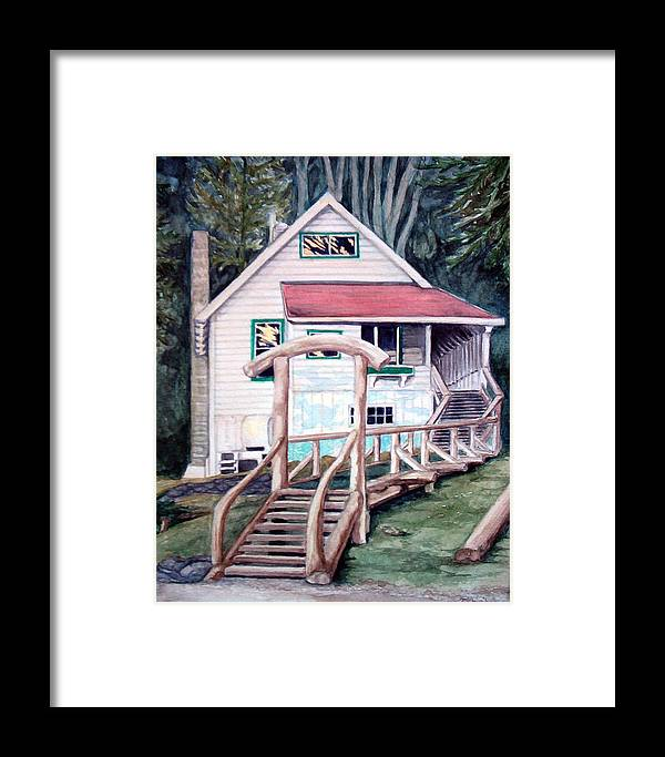 Old House Framed Print featuring the painting The Waterfront by Tahirih Goffic