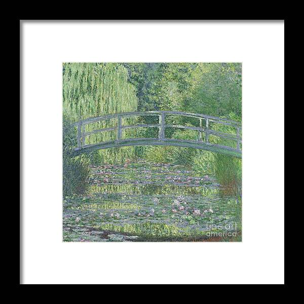 The Framed Print featuring the painting The Waterlily Pond by Claude Monet