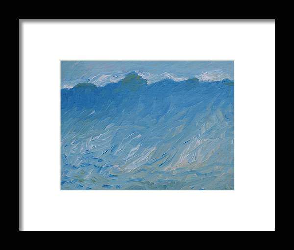 Wave Framed Print featuring the painting The Wave by Robert Bissett