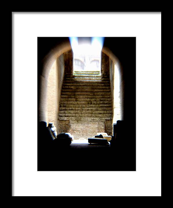 Colliseum Framed Print featuring the photograph The Way by Chuck Shafer
