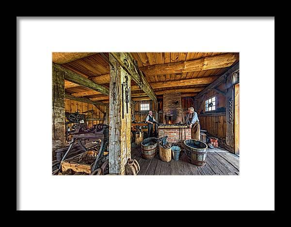 Blacksmith Framed Print featuring the photograph The Way We Were - The Blacksmith 2 by Steve Harrington