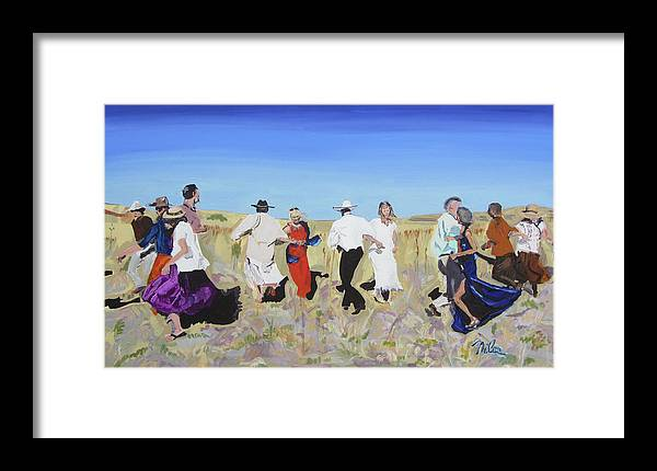 Painterly Realism Framed Print featuring the painting The Wedding Dance by Niles Hagemann